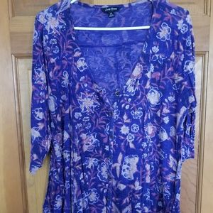Floral Lucky Brand 1x Blouse